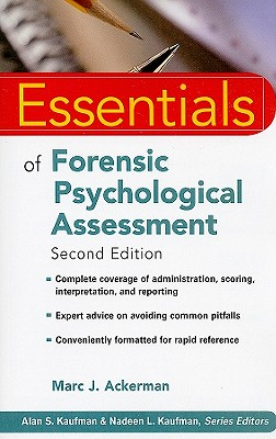 Essentials of Forensic Psychological Assessment By Ackerman, Marc J.